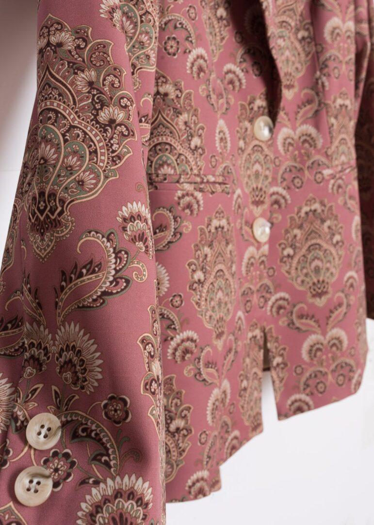 Pink Printed Blazer