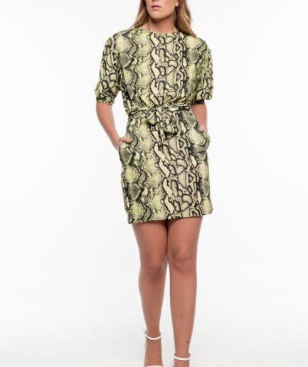 Green Snake Skin Dress