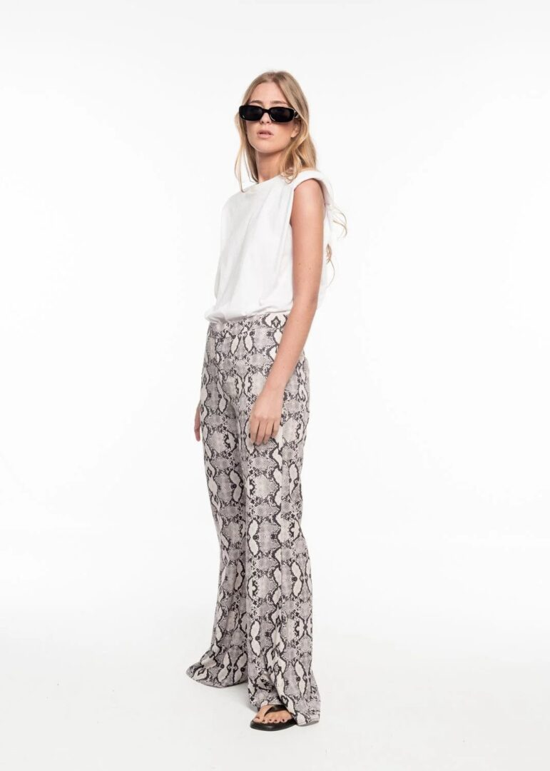 Grey Snake Skin Trousers